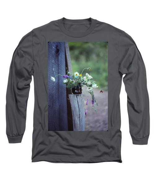 The Still Life Of Wild Flowers Long Sleeve T-Shirt by Patricia Keller