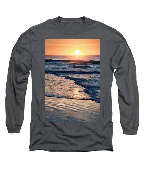 Sun Rising Over The Beach Long Sleeve T-Shirt by Vizual Studio