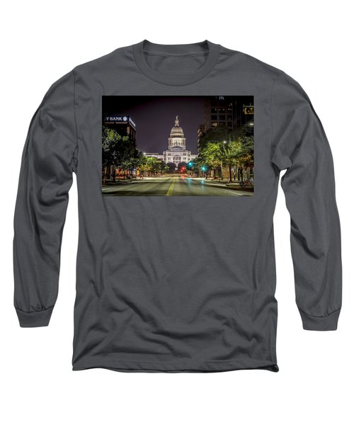 The Texas Capitol Building Long Sleeve T-Shirt