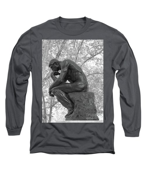 The Thinker - Philadelphia Bw Long Sleeve T-Shirt