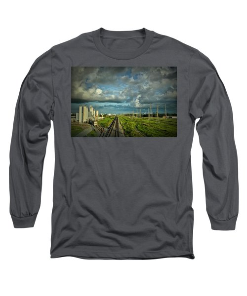 The Train Yard Long Sleeve T-Shirt by Linda Unger