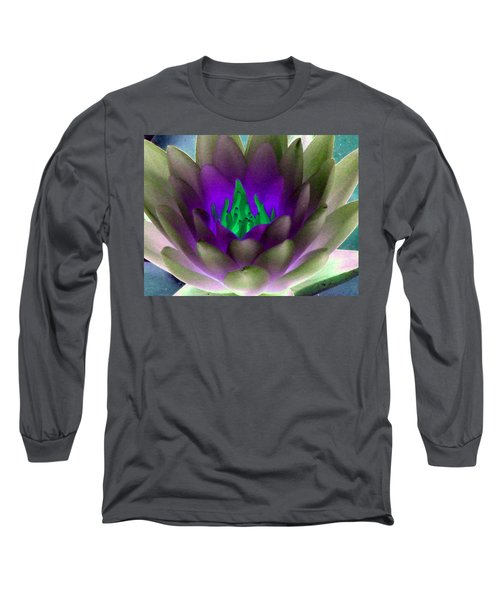 Long Sleeve T-Shirt featuring the photograph The Water Lilies Collection - Photopower 1117 by Pamela Critchlow