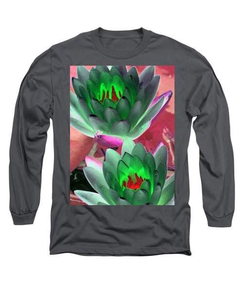 Long Sleeve T-Shirt featuring the photograph The Water Lilies Collection - Photopower 1121 by Pamela Critchlow
