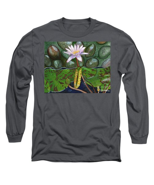 The Waterlily Long Sleeve T-Shirt by Laura Forde
