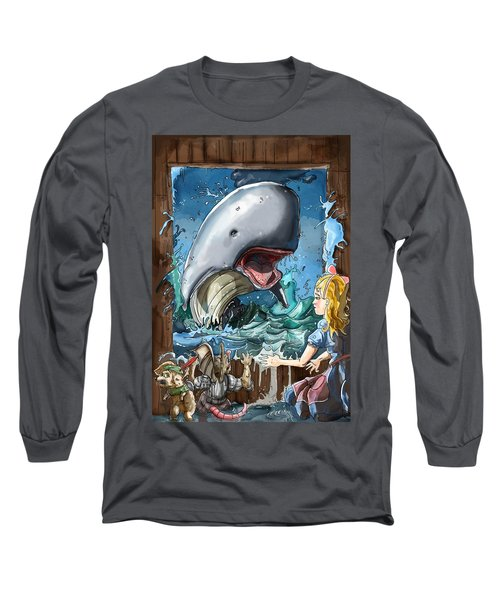 Long Sleeve T-Shirt featuring the painting The Whale by Reynold Jay