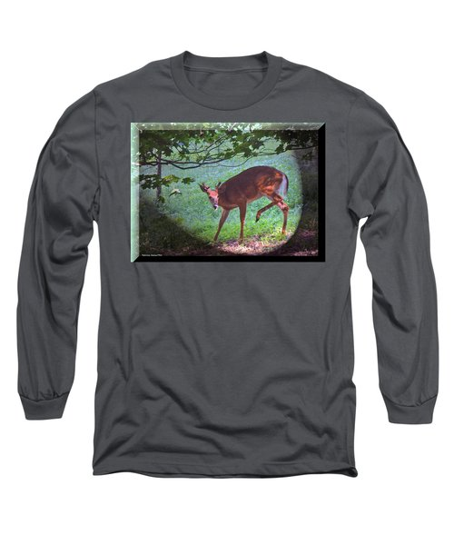 The Whitetail Buck Visits Long Sleeve T-Shirt