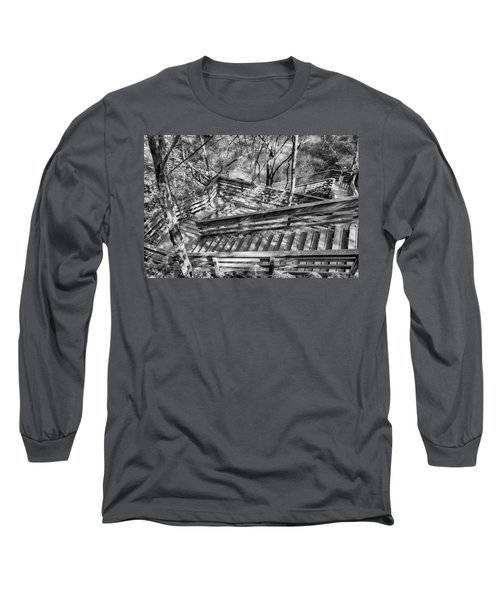 The Winding Stairs Long Sleeve T-Shirt by Howard Salmon
