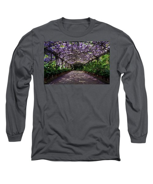 The Wisteria Arbour In Full Bloom Long Sleeve T-Shirt