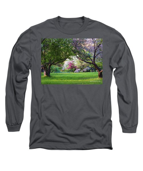 There Is No Place Like Spring Long Sleeve T-Shirt by Judy Via-Wolff