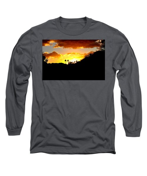 There's Gold In Them Thar Hills Long Sleeve T-Shirt by Jay Milo