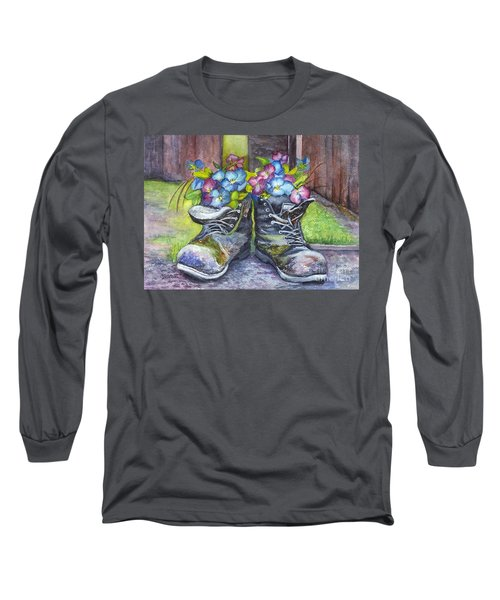 These Boots Were Made For Planting Long Sleeve T-Shirt by Carol Wisniewski