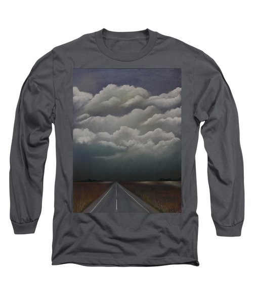 This Menacing Sky Long Sleeve T-Shirt by Cynthia Lassiter