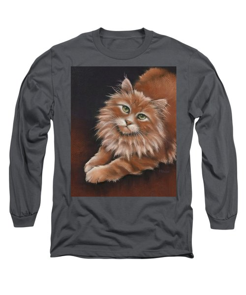 Long Sleeve T-Shirt featuring the drawing Thomas by Cynthia House
