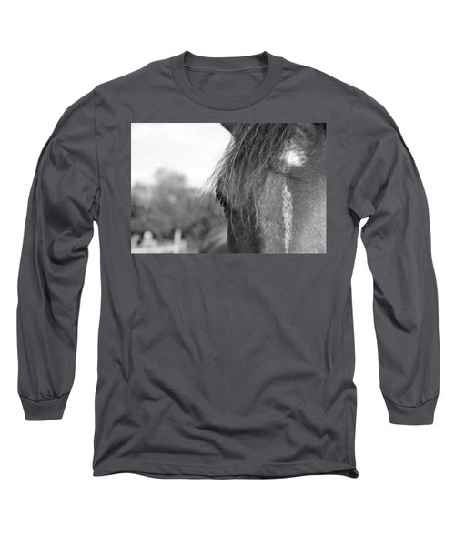 Thoroughbred B/w Long Sleeve T-Shirt
