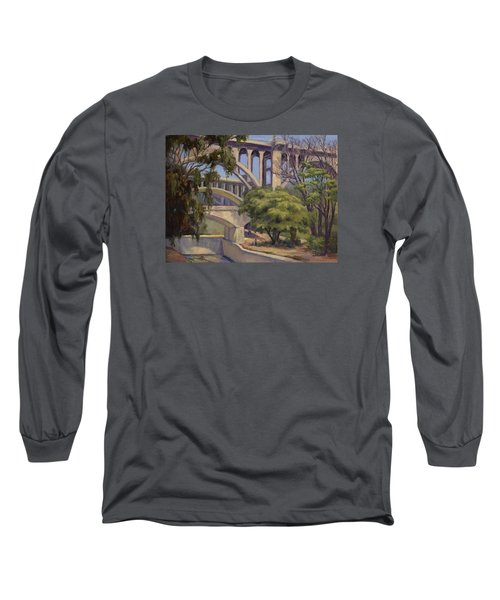 Three Bridges Long Sleeve T-Shirt by Jane Thorpe