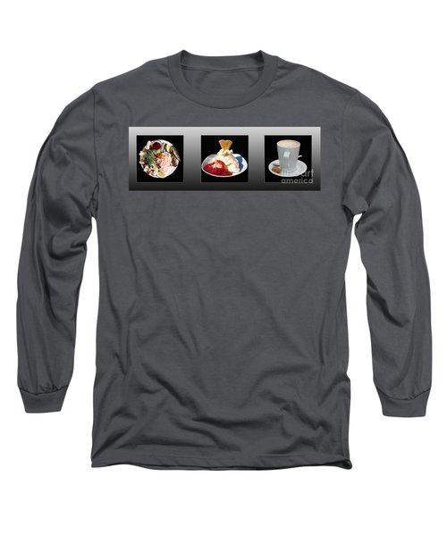 Long Sleeve T-Shirt featuring the photograph Three Course Meal by Terri Waters