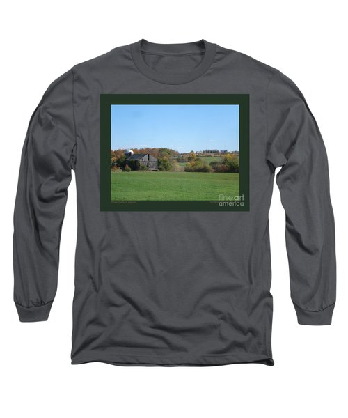 Three Farms In Autumn Long Sleeve T-Shirt by Patricia Overmoyer