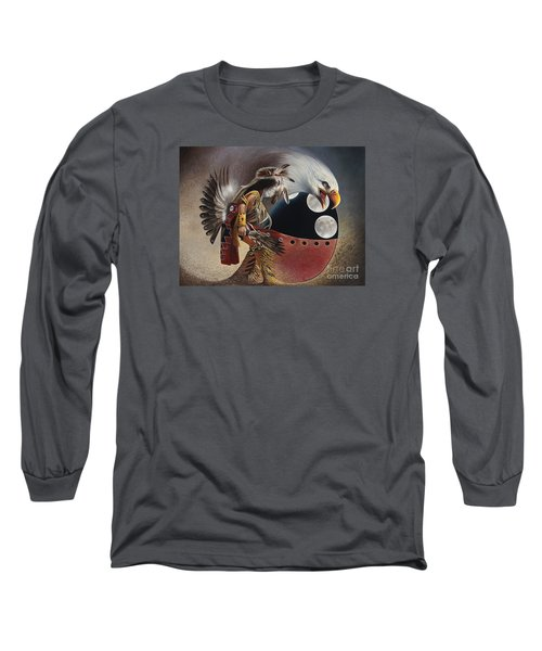 Three Moon Eagle Long Sleeve T-Shirt
