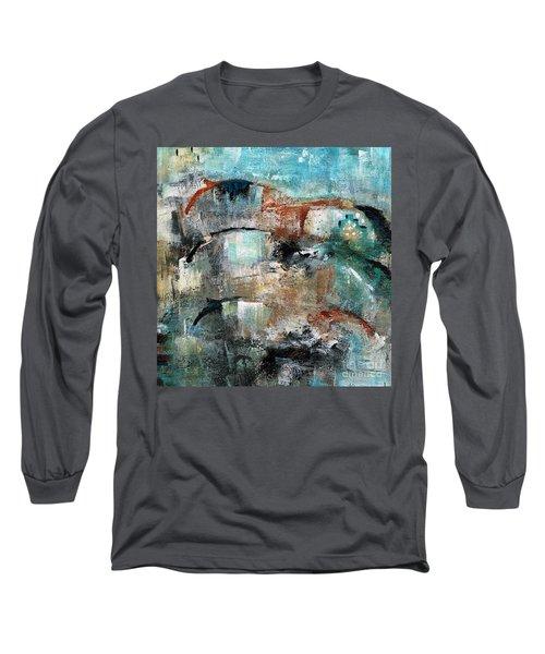 Three Running Horses Long Sleeve T-Shirt
