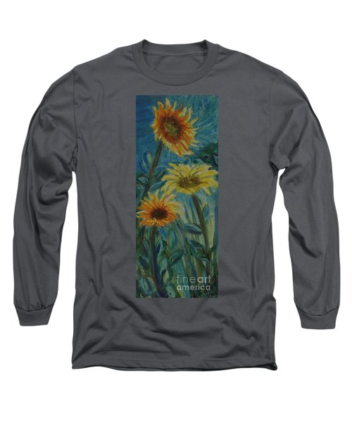 Three Sunflowers - Sold Long Sleeve T-Shirt