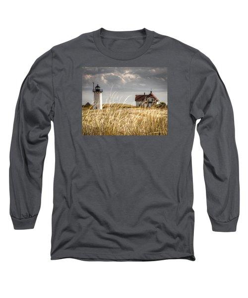 Race Point Light Through The Grass Long Sleeve T-Shirt by Brian Caldwell