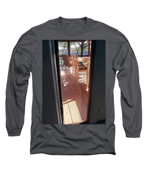 Through The Screen No 2 Long Sleeve T-Shirt
