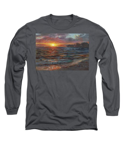 Through The Vog - Hawaii Beach Sunset Long Sleeve T-Shirt