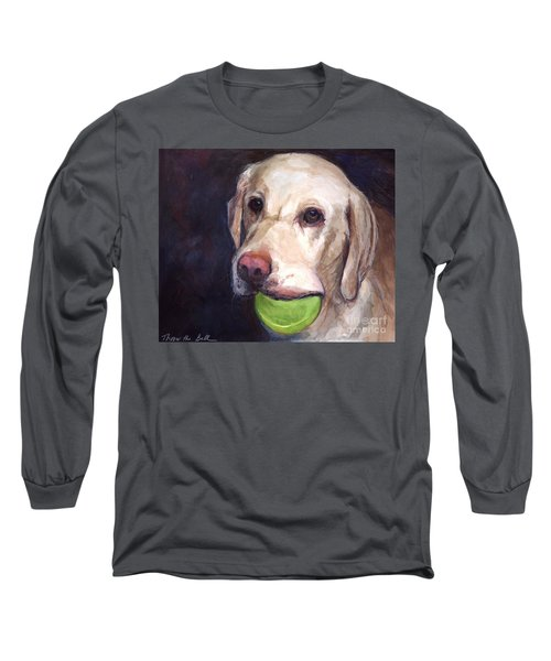 Throw The Ball Long Sleeve T-Shirt by Molly Poole
