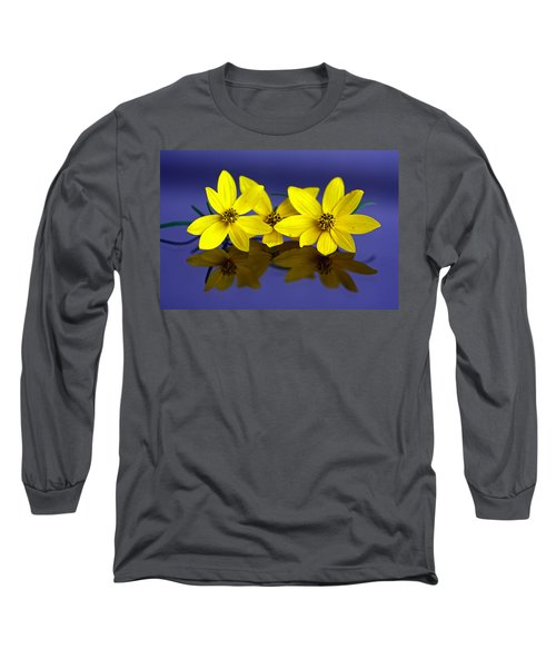 Long Sleeve T-Shirt featuring the photograph Tickseed Trio by Suzanne Stout