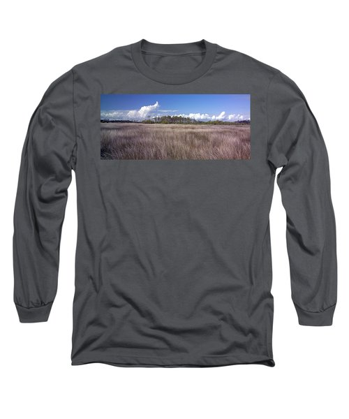 Long Sleeve T-Shirt featuring the photograph Tidal Marsh On Roanoke Island by Greg Reed