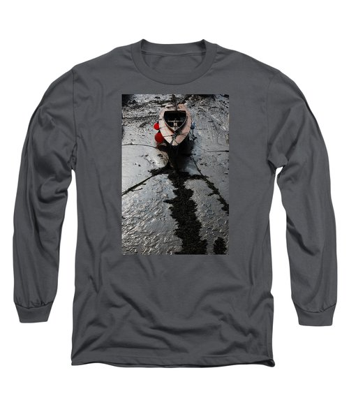 Long Sleeve T-Shirt featuring the photograph Tide's Out 1 by Wendy Wilton
