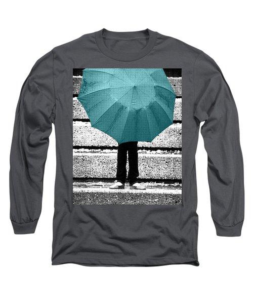 Tiffany Blue Umbrella Long Sleeve T-Shirt