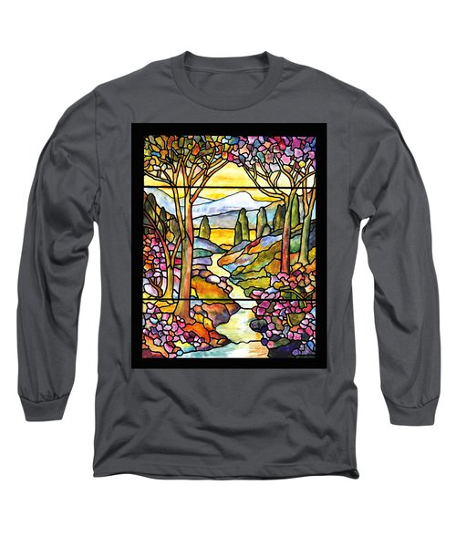 Tiffany Landscape Window Long Sleeve T-Shirt
