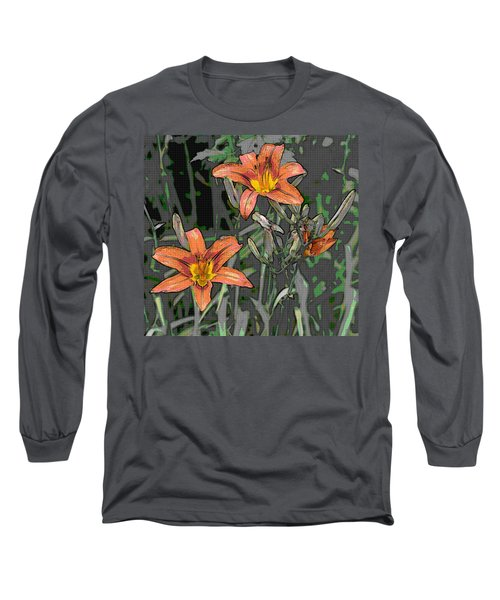 Tiger Lilies Of Canvas Long Sleeve T-Shirt