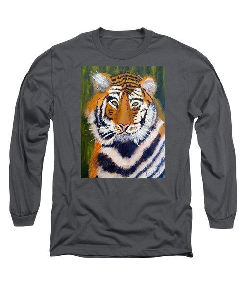 Tiger Long Sleeve T-Shirt by Pamela  Meredith