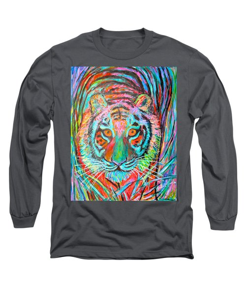 Tiger Stare Long Sleeve T-Shirt by Kendall Kessler