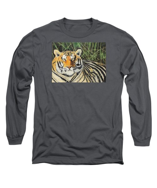 Long Sleeve T-Shirt featuring the painting Tigress by Jeanne Fischer
