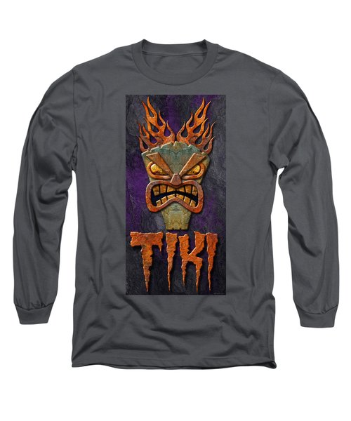 Long Sleeve T-Shirt featuring the photograph Tiki by WB Johnston