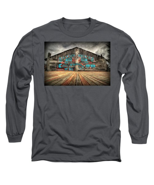 Tlingit Tribal House Haines Alaska Long Sleeve T-Shirt