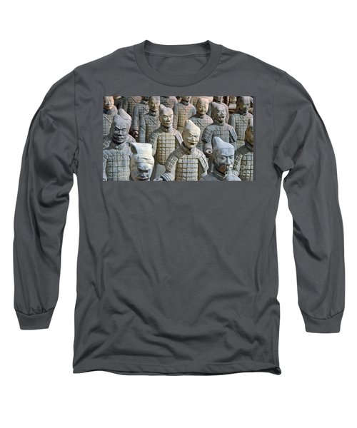 Long Sleeve T-Shirt featuring the photograph Tomb Warriors by Robert Meanor