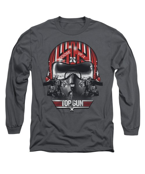 Top Gun - Goose Helmet Long Sleeve T-Shirt by Brand A