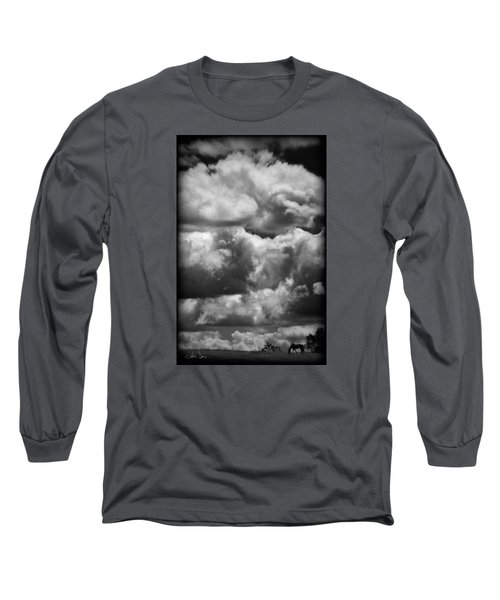 Long Sleeve T-Shirt featuring the photograph Top Of The World by Joan Davis