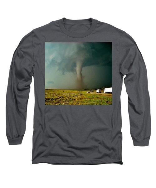 Tornado Truck Stop II Long Sleeve T-Shirt by Ed Sweeney