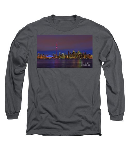 Toronto By Night... Long Sleeve T-Shirt