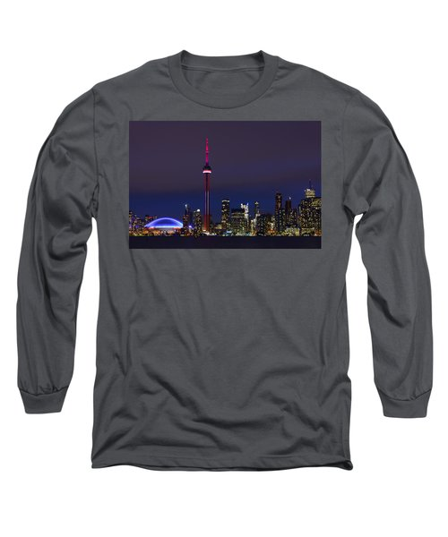 Toronto Skyline Long Sleeve T-Shirt