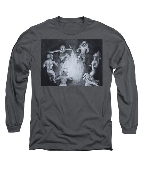 Totem Dancers - Channeling The Spirits Long Sleeve T-Shirt by Samantha Geernaert