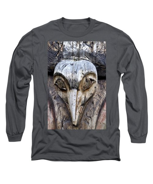 Totem Face Long Sleeve T-Shirt by Cathy Mahnke