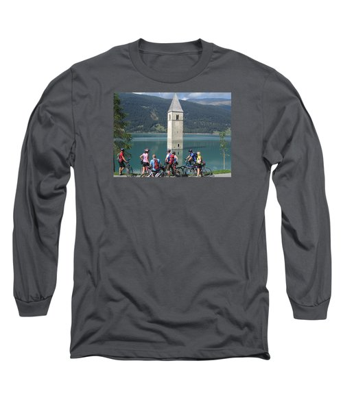 Long Sleeve T-Shirt featuring the photograph Tower In The Lake by Travel Pics