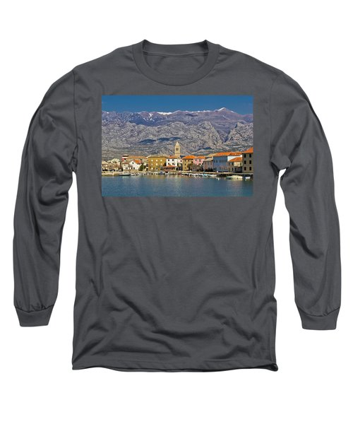 Town Of Vinjerac Waterfrot View Long Sleeve T-Shirt