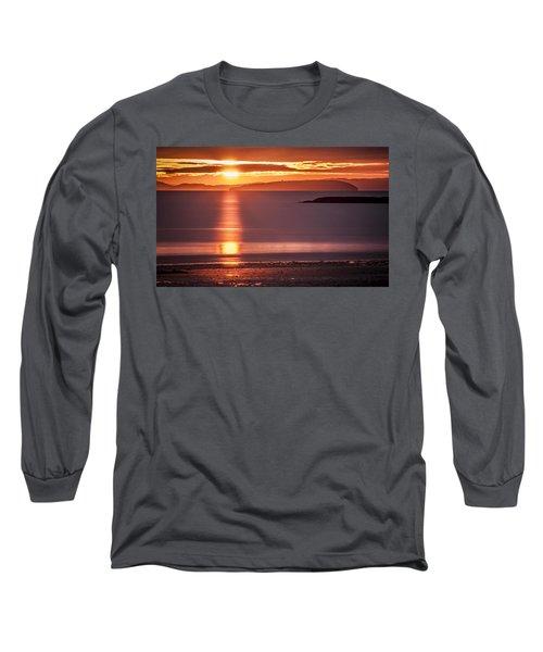 Traeth Bychan At Sunrise Long Sleeve T-Shirt